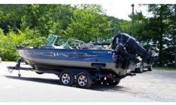 This aluminum boat is designed to deliver the most productive fishing experience for any specie of fish including walleye, musky, salmon, crappie, or bass. The legendary Lund 2075 Pro-V delivers superior design with almost every fishing boat feature