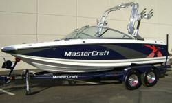 """2012 MasterCraft X-2 -5.7L Ilmor Motor -KGB Ballast System -""""BIG"""" 7 inch Touch Screen Dash -ZFT2 Tower -Swivel Board Racks w/ Clamp -Clarion CD w/ 4 JL Speakers -Snap In Carpet -Full Boat Cover -Walk Through Billet Door -Automatic Fire Extinguisher"""