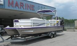 29 foot tri-toon, twin Mercury 300 Verados, DTS controls, power steering, Smartcraft guages...much more! See all the specs at Marine360online-dot-com.