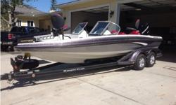 Fully loaded there is only 19 hours on this boat. I bought it off the show room floor in 2013 and have always kept it garage and it is still in show room condition, it is equipped with a 225 HP Mercury Motor, Hydraulic Steering, up graded Lowrance HDS-7 &