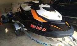 I bought this Sea-Doo last summer with hopes of using it more often but with work I never get a chance to take it out. This has only has approx. 9 hours on the unit. Comes with an aluminum Triton trailer, Sea-Doo fitted cover, Sea-Doo safety kit & an