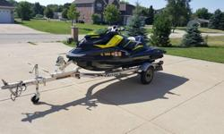 2012 Sea-Doo RXP-X with only 41 hours.Perfect condition. Always kept in heated garage. Fresh water only. Never parked on sand.This musclecraft has planty of horsepower: 260Super powerful and super fast.Comes with trailer and original cover.41 hours as of