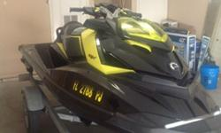2012 Sea Doo RXP 260. It has a 260 horsepower super charged engine that'll top out around 70 mph. It is in excellent condition with 62 hours on it. It has been garaged kept, and never stored in the water overnight. The only damage is some slight scuffing