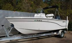 Gorgeous, super clean, 2012 Sea Fox 199cc Center console fishing boat for sale. This boat just came in and it hasn't even been washed yet!! It is in awesome condition inside and out and loaded with options including bimini top, trailer, Garmin GPS, stereo
