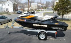 2012 SEADOO RXT 260 WITH A 2013 KARAVAN TRAILERTHE SKI ONLY HAS 28 HOURS ON IT !!!I AM THE ORIGINAL OWNER. I PURCHASED THE SKI AS A LEFTOVER IN 2013.SKI IS IN PERFECT SHAPE.GARAGE KEPT.I ALSO INSTALLED A BATTERY TENDER FOR THE TIMES THE SKI SITS TO KEEP