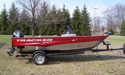 2012 TRACKER FISHING BOAT PURCHASED BRAND NEW, AND ONE OWNER USED ONLY ONE TIME DUE TO HEALTH ISSUES. BOAT COMES EQUIPPED WITH 60 HP MERCURY 4 STROKE ENGINE, FULL MOORING COVER, MINN KOTA 42 LB. THRUST POWER DRIVE- WITH FOOT CONTROL, LOWRANCE X50 DS