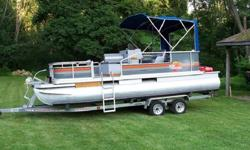 Take in the pictures. Its a good looking boat. I purchased a tandem trailer because it tows much better then a single axle. When I purchased the boat everything worked.. But I did not install speakers for the radio. Only part I know of that I did not