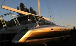 Type of Boat: Sail boat - YachtYear: 2013Make: PedigreeModel: CatamaranLength: 52Fuel Type: DieselEngine Model: Twin 59hpVolvo saildrives with adjustable pit SS Sleeps how many: 8Number of A/C Units: 2Inboard / Outboard (Boat): Twin inboardsTotal Horse