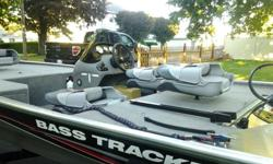 **Stored in garage since purchase. Used less than half dozen times. Trailer included**2013 Bass Tracker Pro 165....Immaculate condition. Fresh water use only. Mooring cover included as well.Engine make: MercuryModel: 40 ELPTStroke. Fuel: gasLength: 16.2