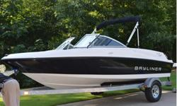 2013 BAYLINER 175 BOWRIDER and galvanized Purchased brand new from Airport Marine in May of 2013. Kept in garage, and cleaned after every trip. Winterized every season. This boat is my pride and I am a perfectionist. Every nook and cranny is wiped on a