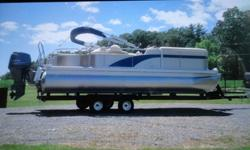 Up for sale is a 2013 Bennington Pontoon With a 2014 Yamaha 90 HP motor and a 2014 Hoosier trailer. The Boat was a 2013 leftover thats why the difference in years. Motor has 29.2 hrs. The boat and trailer are both in excellent condition. The motor was