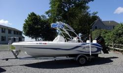 2013 Glasstream 221CC was custom built and has the redesigned hull giving it a dry and soft ride in any sea condition. It is powered by a Suzuki 175 4-stroke-30 hours-4 blade SS prop-warranty 2019, magic tilt aluminum trailer, Garmin color