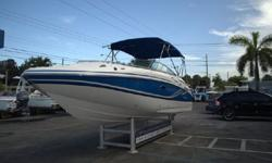 Supreme versatility makes Hurricane the best choice in deck boats - year after year. This boat/motor package has very low hours! DTS controls! MOTOR FULLY WARRANTIED UNTIL 3/26/18!! Marine Connection works closely with a number of leading marine lenders