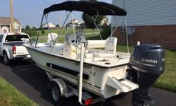 Key West 177 SK Center Console Like New Great for Fresh Water or Bay Fishing .2013 Key West 177 SK Center Console, 90 hp 4-stroke with approx. 20 hours. Fresh water use only. Garage kept like new condition. Great fishing platform for lake or bay use. Has