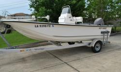 2013 Key West 177SK center console Fishing Boat. Besides a few cosmetic scratches (see pictures) this boat has been well maintained and is garaged kept. This boat has a JBL amplified system with Bluetooth technology. The boat comes with a motorguide 55lb