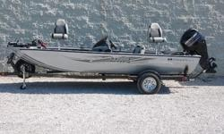 "With its 60"" hull, the Stinger 175 is 6"" wider than the leading competitor, making it one of the most stable, best performing boats in the mid-size class. Its super-sized, 85"" wide deck offers 70 sq ft of open fishing space combined with 11.75 cu ft of"