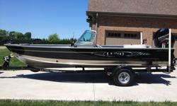 This is an awesome and beautiful boat!! A black and silver jewel in pristine condition!! My wife and I used it primarily for striperfishing!! It has been and still is garage kept and was completely cleaned and wiped down after each outing. It has less
