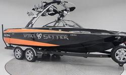 Priced way way below NADA retail book. Almost brand new boat. Wasn't even sold new till 2014, so it's only been in the water 1 summer. Factory warranty. Sold for $130,000 spring of 2014. Every option available from the factory! 410 Horse power! surf Gate