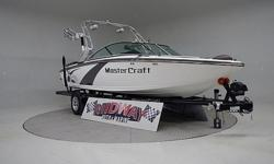 Only 1 owner and he only put 65 hours on it! This boat is mint and just like new. Still has factory warranty. This tower collapses so boat will fit under 7' garage door. Save thousands from new price!! Ask about FREE delivery.We have the largest selection