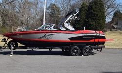 """2013 Mastercraft X30,This is a loaded 2013 MasterCraft x-30 192 hours. 6.2l Ilmor 430Hp Gen 2 Surf System ZFT4 Tower with Clamping board racks, removable snap in carpet, freshwater flush port, silver metal flake, 7"""" inch touch screen, interior decor"""