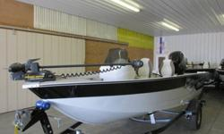NEW 2013 Mirrocraft Aluminum Fishing BoatModel: 1677 Outfitter and Trailer with a swing away tongueLength 16'7Options: Windshield, Hummingbird Depth finder Model: 170, Minnkota 55lb Thurst Trolling Motor,, gauges, Tachometer, Speedometer, Volt Meter,