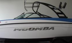 This blue/white/black 2013 Moomba Mobius LSV is looking for a new home. This is a clean one owner boat. Nicely loaded for a great day/week on the water. Here are a list of the cool features-POP-UP CLEATS SET OF 42 BOW SPEAKERS & AMPFULL BOAT COVERDRIVERS