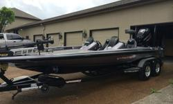 2013 Phoenix 921 ProHP, 21 1/2 foot bass boat with lots of upgrades. The boat is in excellent condition with no cosmetic or mechanical defects. Equipment and accessories:-Minnkota Fortrex trolling motor with 101 lbs thrust, 36 volts and foot control.-Dual