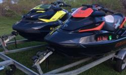 I'll respond ONLY through phone so please leave me your number. Thanks! These jet skis have been completely dealer serviced since the day they were brought. The 2011 has 33 hours and the 2013 has 22 hours. Garage kept since day one. winterized and service