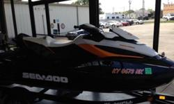 This SeaDoo is a 2013 model with only 66 hours! This SeaDoo is very very nice and apears almost new. It has no scratches. The matching trailer is also included. The craft has been taken very well care of and you can notice in the pictures. The RXT is one