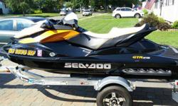Seadoo GTR 215 with 39 hours on it, also included is a 2014 Yacht Club galvanized trailer(shown in last 2 photos, not the Triton Trailer you see in some photos) This machine was immaculately maintained, it was washed, waxed, engine sprayed with CRC and