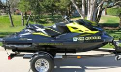 2013 SEADOO RXP-X 260 ONLY 32 HRS LIKE NEW INCLUDES TRAILER NO RESERVETHE BIKE HAS ONLY ONE SCRATCH THAT I HAVE POINTED OUT IN THE PICTURESFULLY SERVICED AND EVERYTHING WORKS PERFECTTHIS THING IS 260 HORSE POWER AND VERY QUICK SUPERCHARGED PICTURES SPEAK