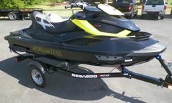2013 SEADOO RXT-X-AS 260, SUPERCHARGED 1503 HO ROTAX MOTOR, ELECTRIC START, S3 HULL, BLACK AND LIME GREEN, BRAND NEW, ADJUSTABLE SUSPENSION, 3 SEATER, ADJUSTABLE TRIM TABS FROM RACE TO COMFORT, SUPERCHARGED, BRAKES, LOTS OF STORAGE, FRONT DRY BOX, SEADOO