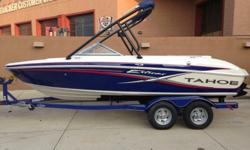 """FOR SALE BY OWNER 2013 TAHOE Q7i EXTREME EDITION (20' 6"""") W/ WAKEBOARD TOWER. MOTOR 5.0 260HP. SEATS 9. SONY SOUND SYSTEM W/REMOTE. UNDER 20 HOURS AS I BOUGHT BRAND NEW SUMMER OF 2013 AND THE BOAT HAS NOT BEEN OUT THIS YEAR. BOAT LOOKS BRAND NEW INSIDE"""