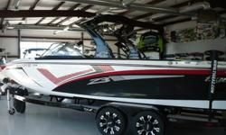 Used 2013 Tige Z3 Only 65 Hours! Year End Blow Out Pricing Now Only $75,900 Trades Welcome! Financing Available O.A.C.! * PCM 5.7L 343 Excalibur Only 65 Hours! * White Red Black Gelcoat * Alpha Z Tower with Black Bimini Top * Snap In Carpet * Black