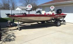 2013 Bass Tracker Pro Team 175 TXW with the 60 horsepower Mercury Four Stroke outboard. I purchased the boat brand new in July of 2013. The boat has been garage kept and has been in the water 7 or 8 times. It is in immaculate condition. I purchased the