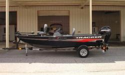 2013 Tracker Super Guide V-16 SC Able. Agile. and fully equipped. Improved for 2013, the TRACKER Super Guide V-16 Side Console is a better value than ever. There?s a new dash with a tachometer, speedometer and fuel gauge, a larger fuel tank, a roomier aft