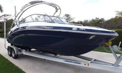 Beautiful Fully Loaded 2013 Yamaha 242 Limited S with only 80 hours on her 360 HP Twin High output motors. Yamaha extended warranty till (2018) on this one. She comes in pristine condition and has all the bells and whistles!!! Plenty of awesome pictures