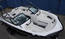 FACTORY YES WARRANTY TILL MAY 2018 . First-class features include Yamaha?s award-winning swim platform, an upgraded, premium Clarion stereo, a folding aluminum tower, Trailer w/brake67 HOURS .Describing a 19-foot boat as powerful wasn?t possible ? until