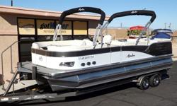 http://www.gotwatermarine.com/Consignment_2014_Avalon_Windjammer_Elite_Triple_Tube_Pontoon_24_64698.htmlOne owner, always garaged, well maintained / serviced and only 12.6 hours on the Mercury Verado 200 horsepower outboard is just the ticket for a 2014