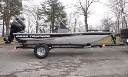 2014 Bass Tracker PRO 160 Crappie Fishing Boat.2014 Mercury 40ELPT 4 Stroke Motor.2014 Tracker Trailstar Trailer .Port side rod holders w/organizer for 4 rods to 7'.Horn.Non-skid bow mat.Safety engine stop switch lanyard.Lowrance® X-4 Pro fish finder