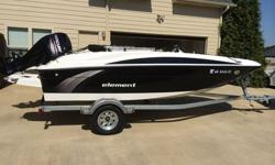 Like new! Low Hours! Seats 6, lots of accessories, ready to go. Includes trailer, cover, depth finder, am/fm radio, tube and tubing accessories. Motor is 60hp Mercury Bigfoot. There is a 5 year extended warranty on the engine, so it's covered for another