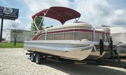 GPS driven speedometer, docking lights, ski tow bar, privacy enclosure, and much more. The mooring cover has quick clips that clip to the railing instead of snaps. The engine is a 2014 Yamaha 115 4-stoke EFI model.When you contact me please include your