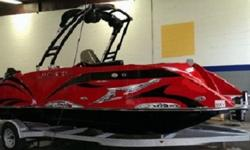 MERCURY 115HP 4-STROKE WITH HYDRAULIC STEERINGPATENTED EVOLUTIONARY HULLPREMIUM WAKEBOARD TOWER WITH SPEAKERS & LIGHTBOARDFULL GAUGE PACKAGE & LED INTRUMENTATION PANELSPORTS STEERINGSUPER SPORT SEATING & AMPLE STORAGECAPTAINS CHAIR to stern. Wakeboard