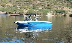 New for 2014 the Centurion FX44 with the hammerhead bow. This boat is referred to as the big brother to the FX22 but it is not the same boat stretched out two more feet. The FX44 boats the deepest hull and deepest degree of V in Centurion's wake boat