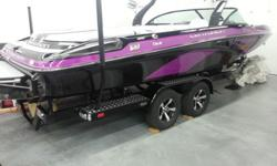 Brand NEW, Great Surf Boat, 2014 Centurion FX22 Wake Boat..... This new boat is very well equipped and looks great with theBlack & Fuschia Metal flake. The boat is ready to deliver fun! Options include; Boat Cover, Stainless Steel Bling Package, Bimini