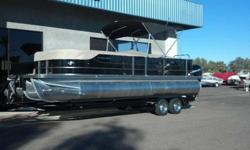 PONTOON Mercury Verado 250HP High Back Recliner Helm Seat Underdeck LED Lighting Premium Audio Sound System w/ Sub, Amp, Remote Privacy Curtain w/ frame Ski Tow Bar Stainless Steel Snap in Carpet Entire Deck Dual Battery switch and battery boxes Crest III