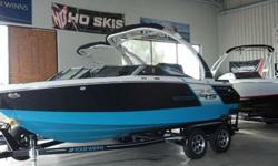Upgraded Mercruiser 300Hp Bravo 3 Bow and Cockpit cover Wakeboard Tower Dual Batteries with switch Stereo w/remote Bimini Top Spare tire w/mount RS Package Introducing the sporty new Horizon 210 RS, a 21-footer with dynamic design details like an