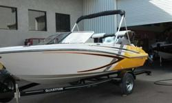 Jump aboard this all new jet boat for the thrill of a lifetime. The new GTS 187 delivers all the great benefits of a jet - shallow water operation, quick acceleration and extended cockpit space, just to name a few. Be the envy of the neighborhood and take