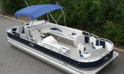 24 ft Grand Island fish and fun pontoon boat. This is my best selling pontoon boat we have. I have this 24 ft in over 30 different styles with over 200 fish and funs in stock. This auction doesnt come with a motor or trailer but they are available. They