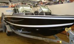 """Brand New 2014 LUND 1875 Crossover, Powered by the Mercury 150XL 4-Stroke outboard. The boat is a exactly what its title is called, """"crossover"""", giving the family fun with the anglers edge. The boat comes equipped with 4 seats, three of which are movable,"""